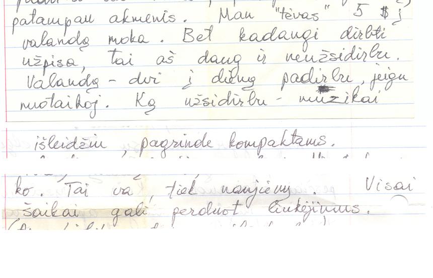 Priklausomybės nuo roko įrodymas – K. K. laiškas Rimvydui Strielkūnui iš JAV (1992)