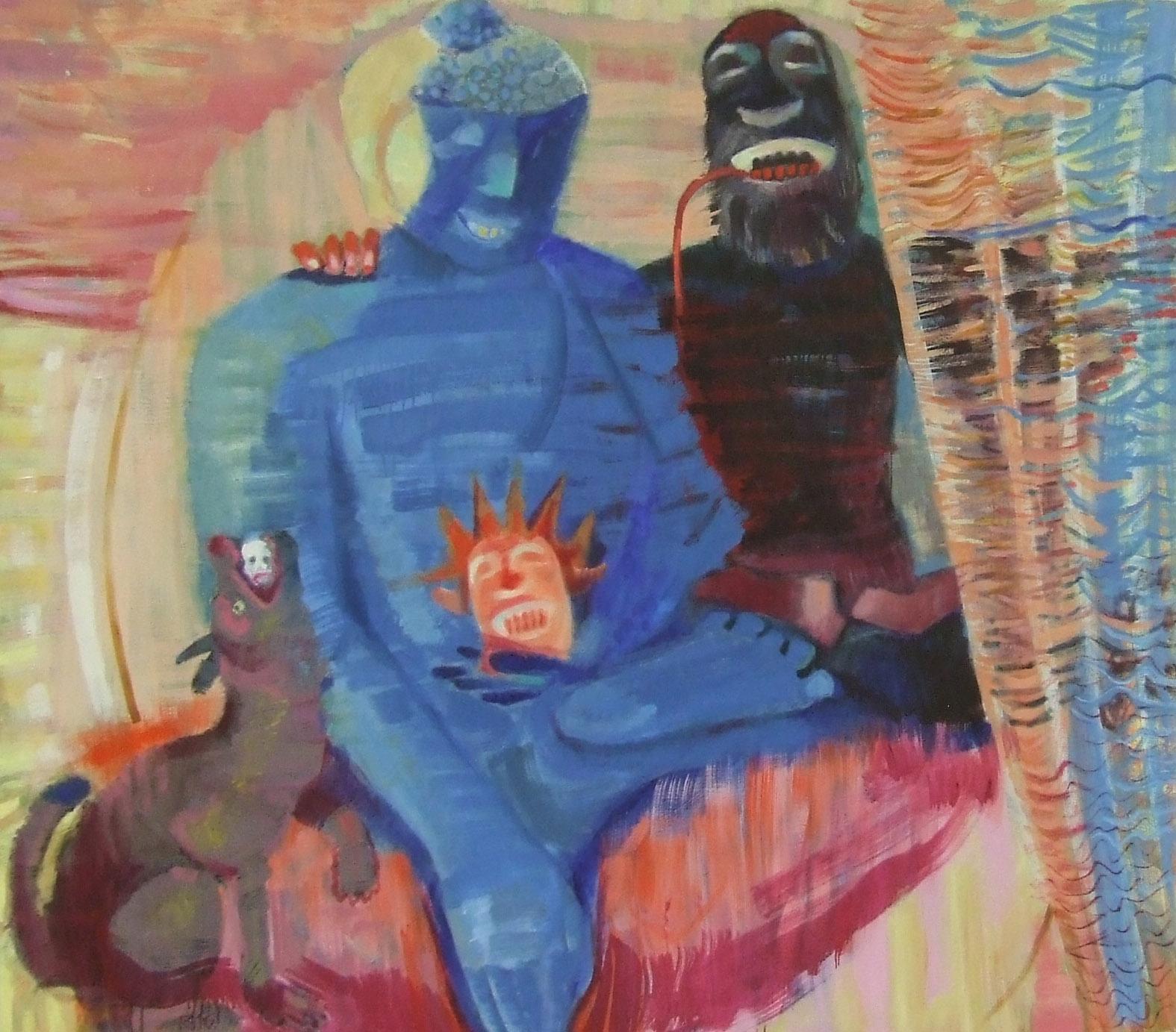 """Raimondas Gailiūnas. """"Nepriekaištingų pastangų vaisiai"""", drobė, aliejus, 2015"""