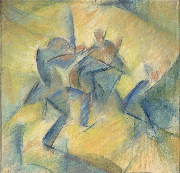 "Vytautas Kairiūkštis. ""Koncertas"", pastelė, 1921"