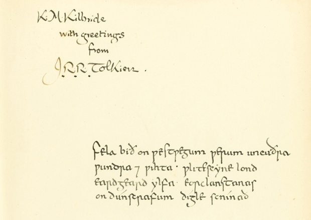 J. R. R. Tolkieno dedikacija