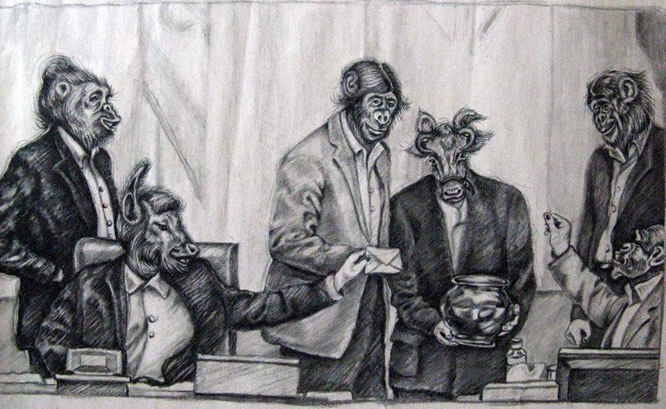 A. Farghadani karikatūra