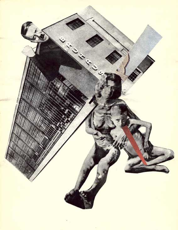 """Karl Waldmann. """"Bauhaus"""", koliažas ant popieriaus, 19,5 x 15. Iš privačios kolekcijos"""
