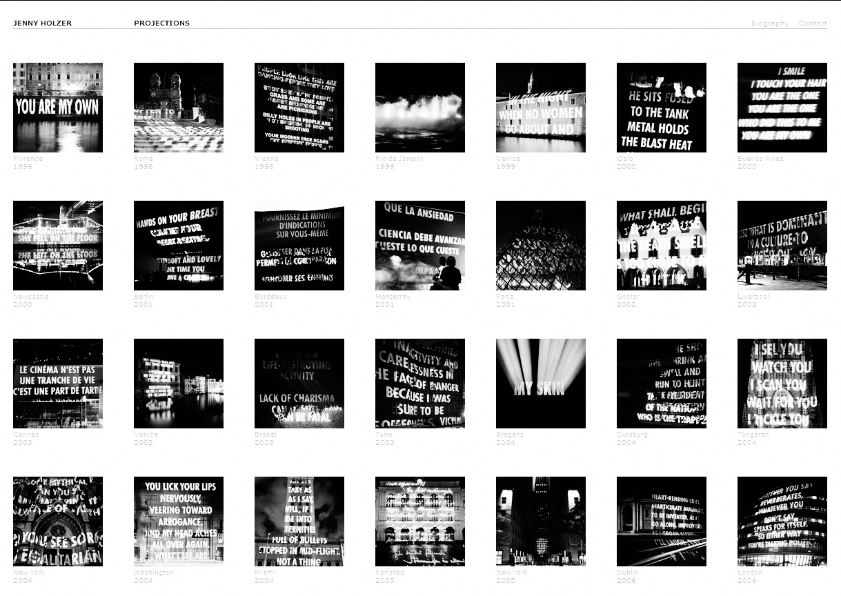 http://projects.jennyholzer.com/projections