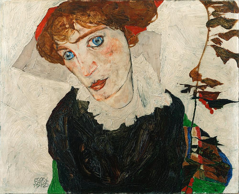 "Egonas Schiele. ""Wally Neuzil portretas"", 1912."