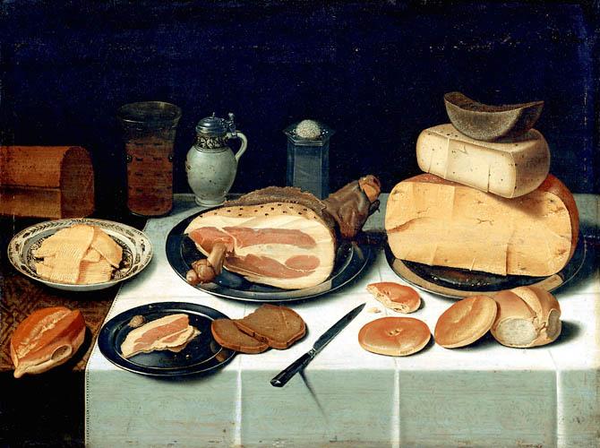 """Floris van Dyck (1575–1651). """"Natiurmortas su sūriais"""""""