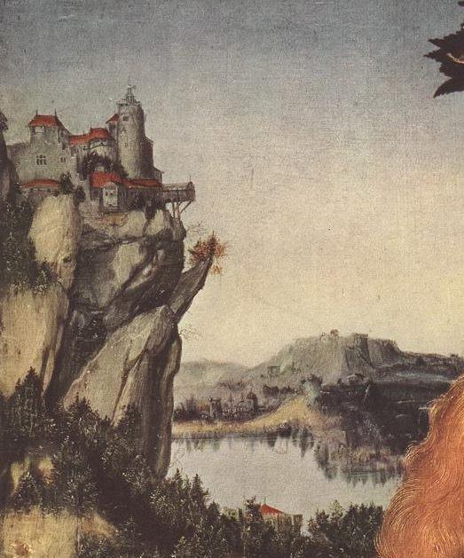 "Lucas Cranachas. ""Marija su Kūdikiu po obelimi"" (fragmentas)"