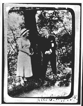 Jelena ir Michailas Bulgakovai Kijeve 1934 m.