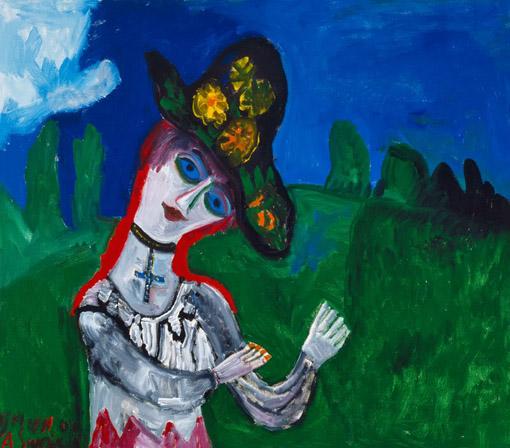 """Augustinas Savickas. """"Dieve, kaip gražu"""". 2004. Drobė, aliejus,127x145"""