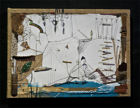 Minnamari Toukola. Be pavadinimo. 2012, koliažas, 44 x 60.