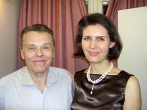 Raminta Šerkšnytė ir Marisas Jansonas Nuotrauka iš R. Šerkšnytės asmeninio archyvo