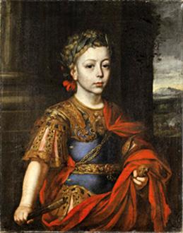 Martynas Altomontė (?). Lenkijos karaliaus ir Lietuvos didžiojo kunigaikščio Jono Sobieskio (1629–1696) sūnaus Jokūbo Liudviko (1667–1737) portretas, apie 1677 m.