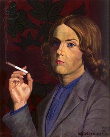 Barbora Didžiokienė. Autoportretas. 1933–1967. Popierius, tempera. 53 x 44