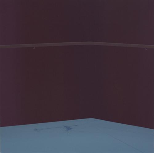 """Linas Jusionis. """"Paralelinės situacijos"""". 2011, akrilas, drobė, 115 x 115."""