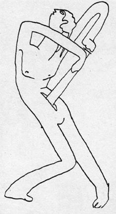 """S. Eizenšteino piešinys iš serijos """"Verterio savižudybė"""", 1931. Iš """"Dibujos Mexicanos ineditos"""", 1978"""