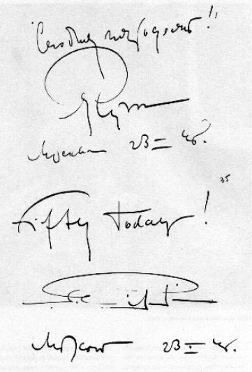 Grafologinis bandymas, 1948 m. sausio 23 d. Iš S. Eizenšteino muziejaus fondų
