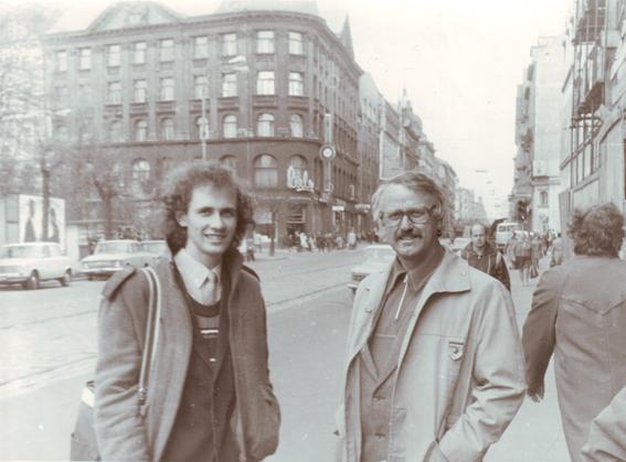 Su Šarūnu Naku Rygoje, 1984 m. Nuotraukos iš kompozitoriaus asmeninio archyvo