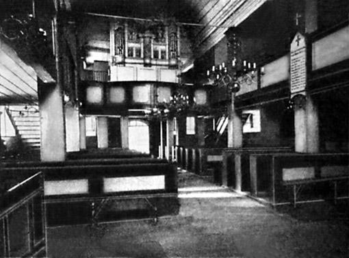 A. G. Casparinio vargonai Tolminkiemio evangelikų liuteronų bažnyčioje. Nuotrauka iš Bericht des Konservators der Kunstdenkmäler der Provinz Ostpreußen Königsberg i. Pr., 1911, S. 26.