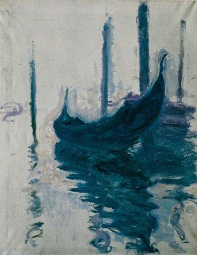 """Claude Monet. """"Gondola Venecijoje"""". 1908"""