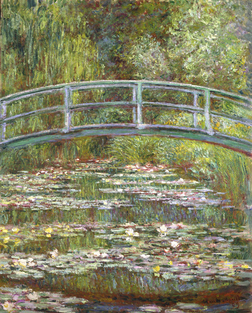 "Claude Monet. ""Tiltas per vandens lelijų tvenkinį"". 1899"
