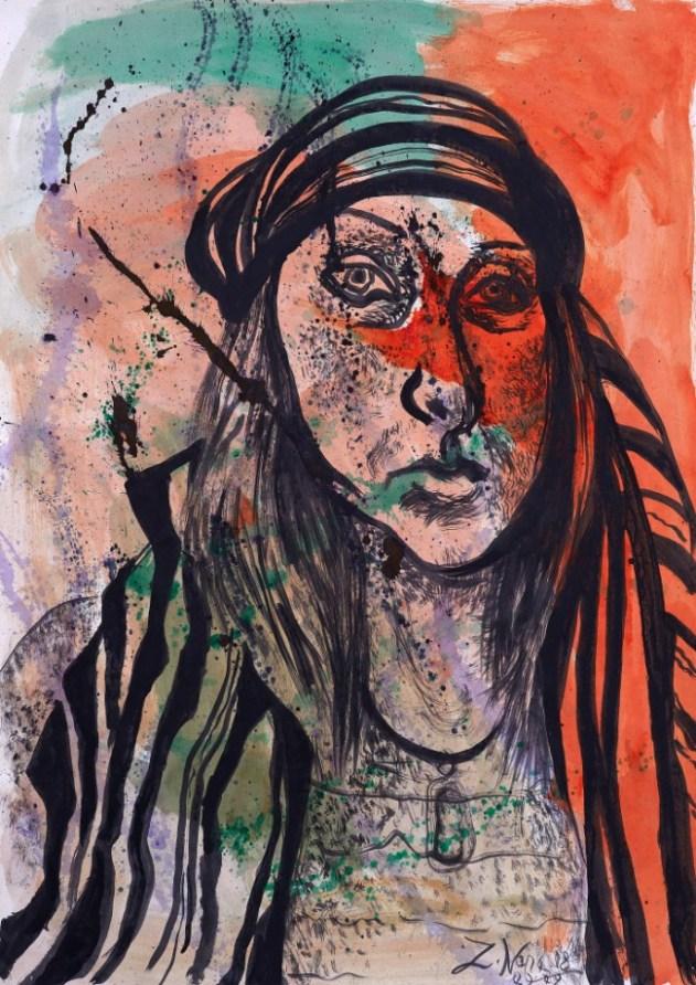 Nona Zavadskienė. Autoportretas. 2008