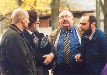 1998 m. su Sigitu Parulskiu, Marcelijumi Martinaičiu ir Liudviku Jakimavičiumi Druskininkuose. Gintaro Žilio nuotrauka