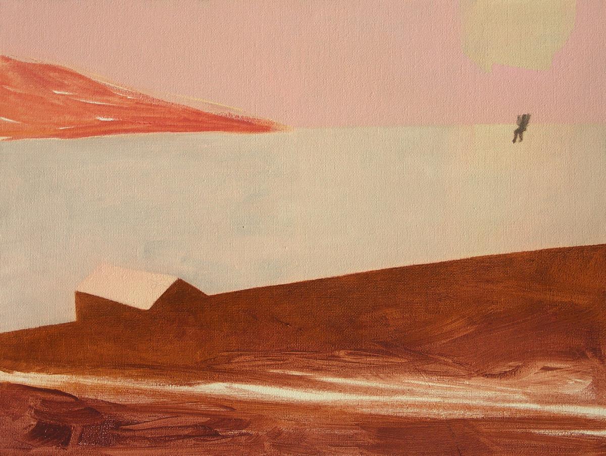 """Eglė Gineitytė. """"Raudona žemė"""", drobė, aliejus, 2012"""