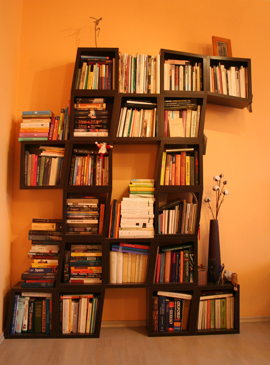 Poeto Artūro Valionio knygų lentyna