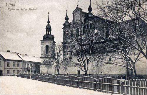 Šv. Mykolo bažnyčia senuosiuose atvirukuose