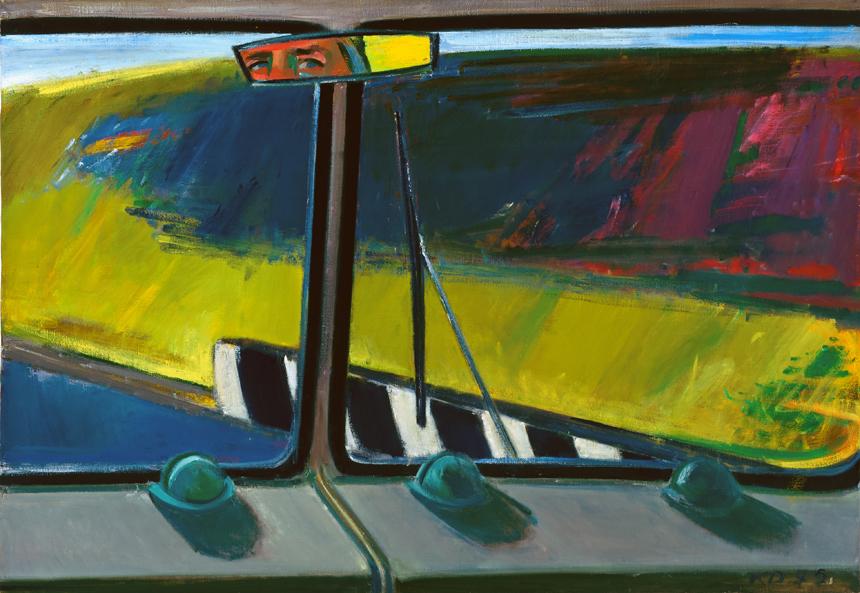 """Kostas Dereškevičius. """"Kelyje IV"""", 1975, drobė, aliejus, 81x116 cm."""