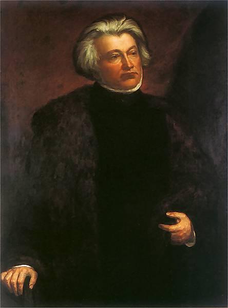 """Henryk Rodakowski. """"Adomo Mickevičiaus portretas"""", 1856, drobė, aliejus, 126 x 93 cm. Varšuvos literatūros muziejus"""