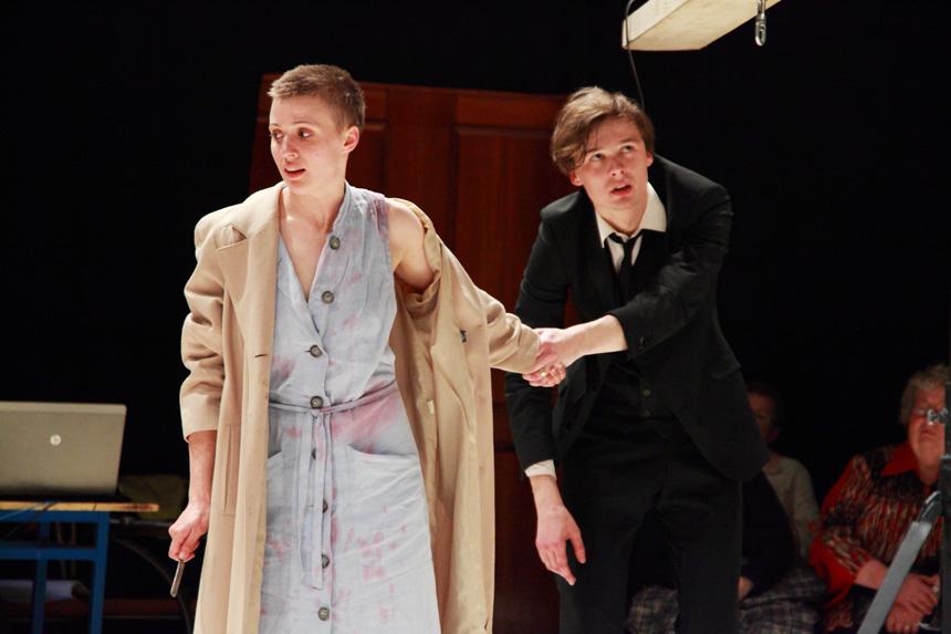 Freken Julija (Inesė Pudža) ir Žanas (Martinas Meieris). Matyso Markovskio nuotrauka