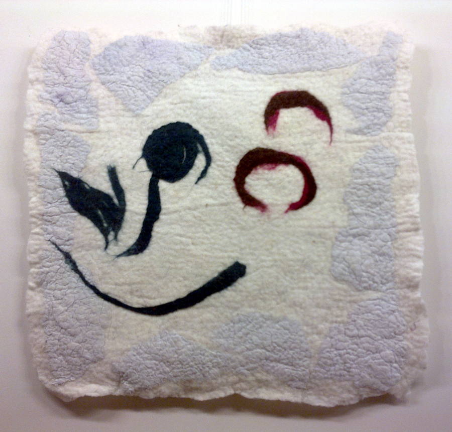 """ErQ. """"Filosofinė gėlė"""". 2012. Sekant L. Gintalaite. Vilna, linas, šlapias vėlimas"""