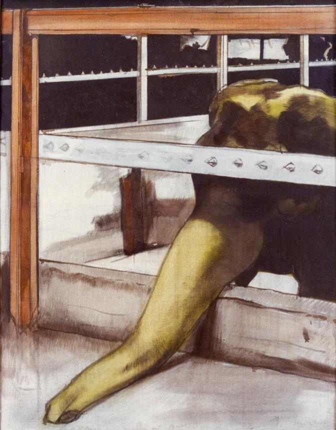"""Viršelyje – Jonas Vaitekūnas. """"Dramblys"""" (""""Karaliaučiaus veidai"""". I). 1991. Drobė, aliejus, 117×89"""
