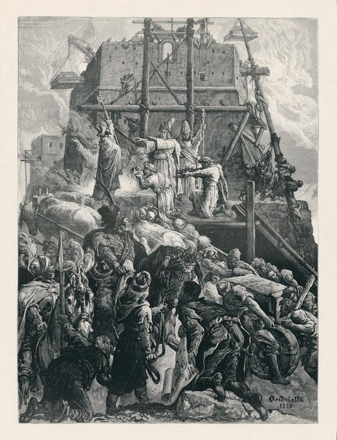 Mykolas Elvyras Andriolis. Gedimino pilies statyba (Gediminas įkuria Vilniaus miestą).1882. Lietuvos dailės muziejus