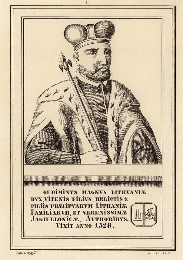 Nežinomas XIX a. vid. dailininkas. Lietuvos didysis kunigaikštis Gediminas. Lietuvos dailės muziejus