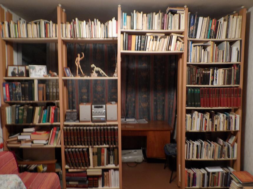 Poeto Antano A. Jonyno knygų lentynos