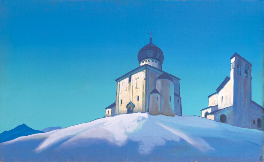 """Nikolajus Rerichas. """"Šv. Sergijaus vienuolynas"""". 1936"""