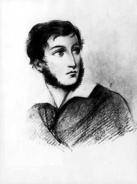 Adomo Mickevičiaus (1798–1855) portretas  pianistės Marijos Šymanovskos albume. Literatūros muziejus, Varšuva