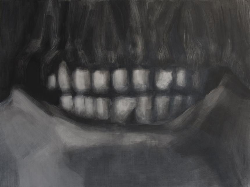 """Stanislovas Marmokas. """"Josifo Stalino šypsena"""". 2013, akrilas, drobė, 120 x 90 cm"""