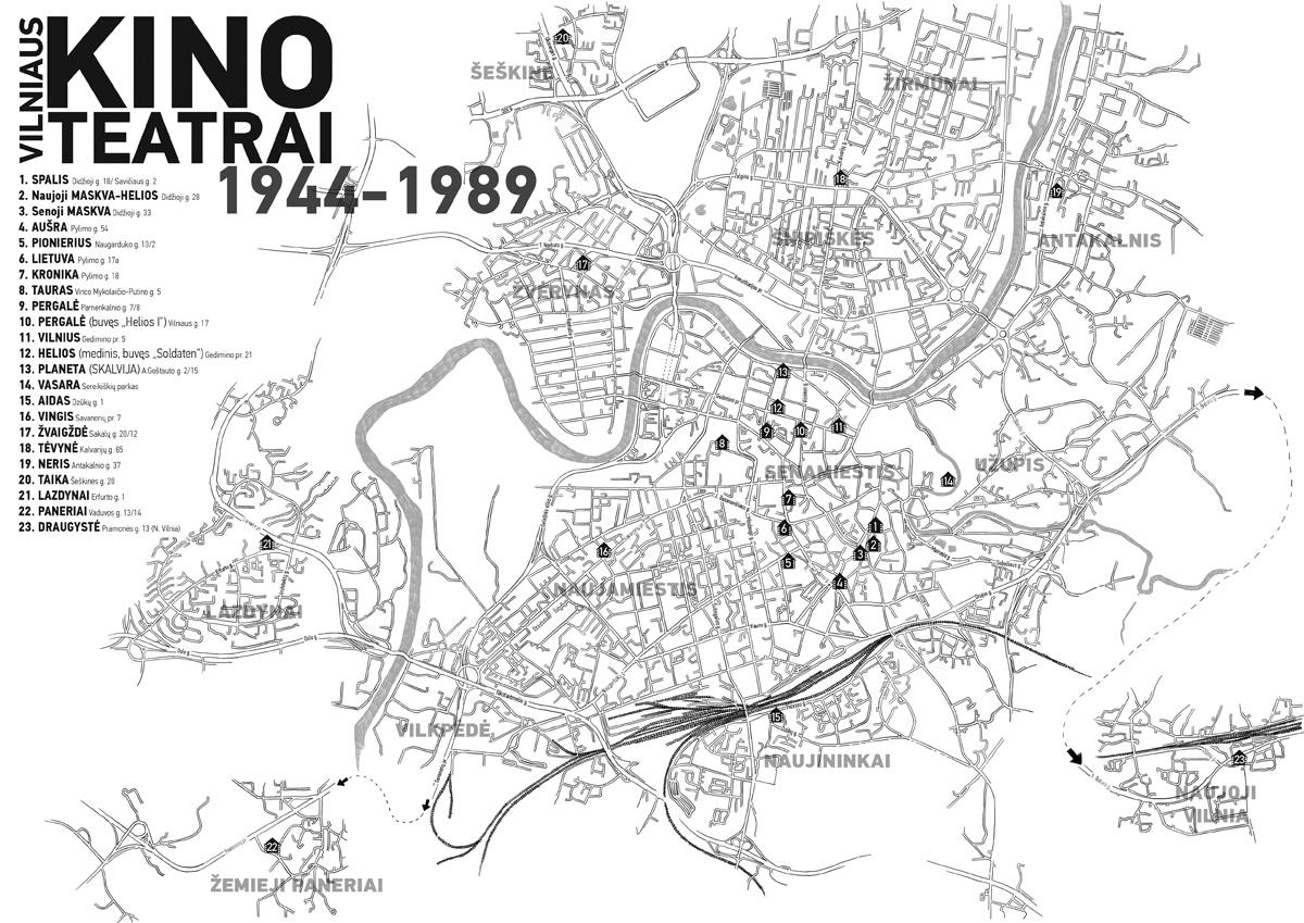 Dailininko Kęstučio Lasinsko pieštas žemėlapis