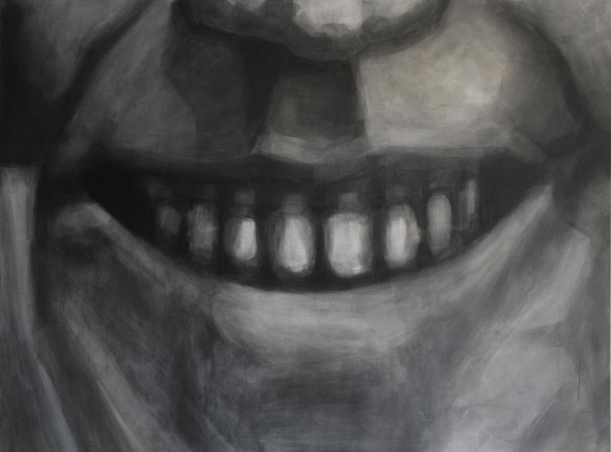 """Stanislovas Marmokas. """"Vlados Marmokienės šypsena"""". 2013, akrilas, drobė, 120 x 90 cm"""