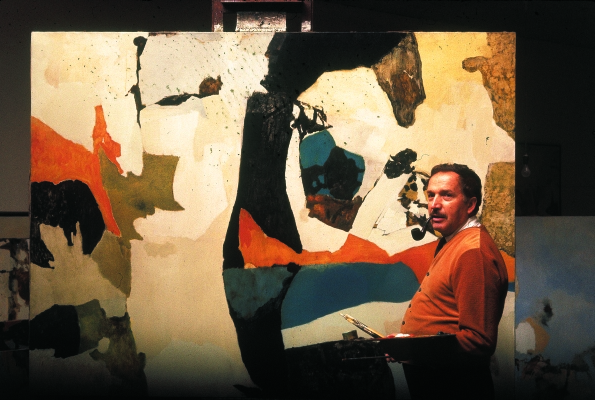 K. Žoromskis savo studijoje Manhatane, 23-iojoje gatvėje