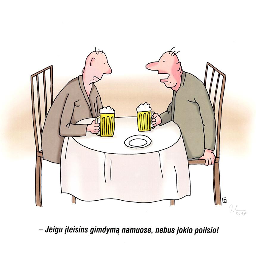 Jonas Lenkutis. (XXXVII Lietuvos karikatūrų paroda. www.humorsapiens.lt)