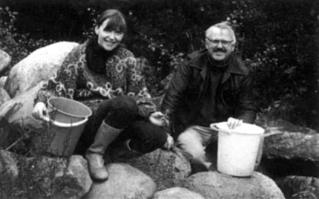 Raminta Lampsatis su Bronium Kutavičium. Nuotraukos iš asmeninio R. Lampsatis archyvo