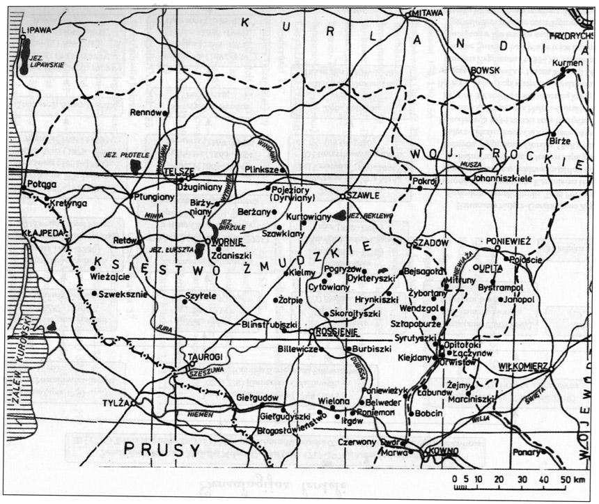Žemaitijos kunigaikštystė – Teresos ir Stanisławo Wawrzyniakų parengtas žemėlapis