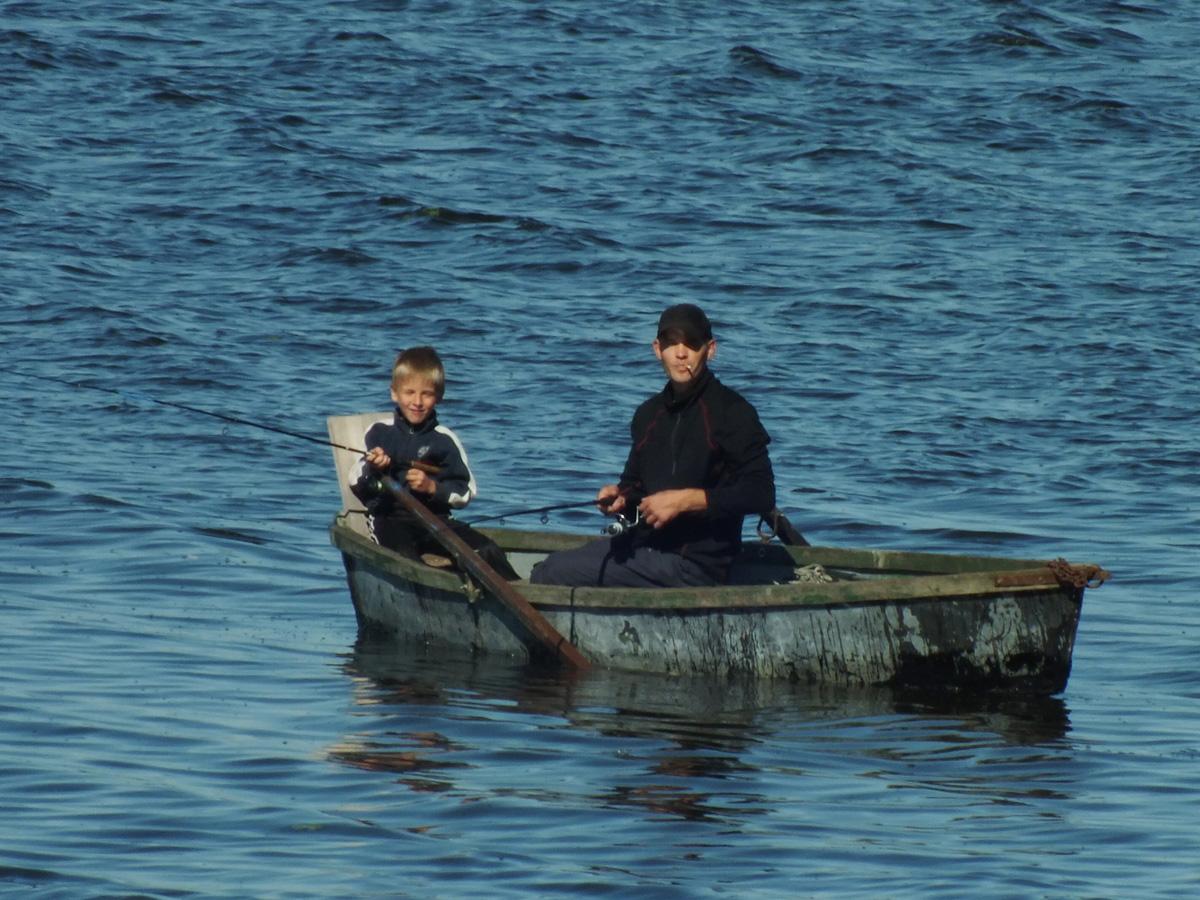 Biržų žvejai Širvėnos ežere
