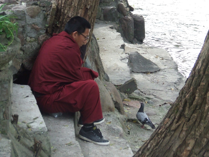 Tibeto vienuolis ant Vilnelės kranto, 2013 09 10. gyčio norvilo nutraukimas
