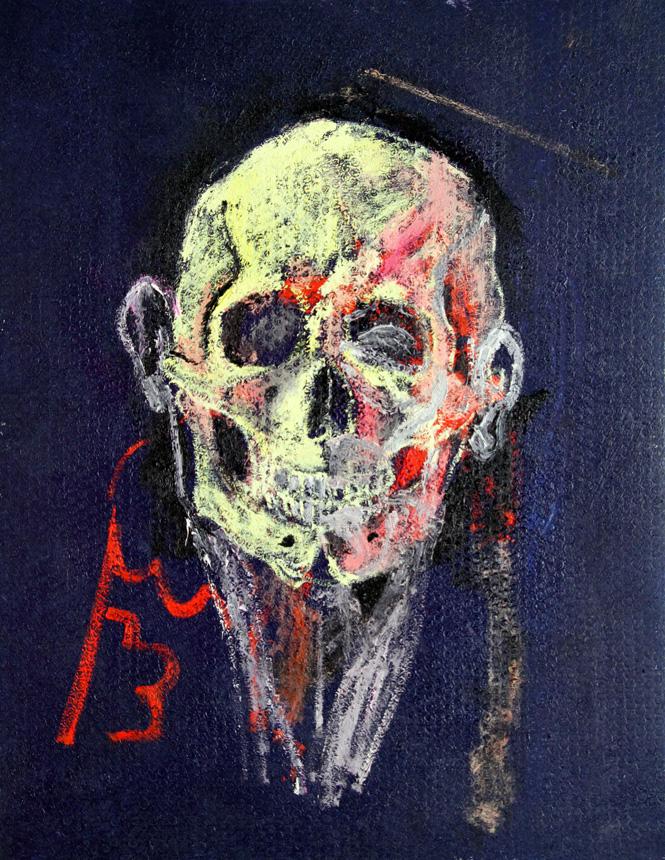 "Gilles Vuillard. ""Peinture"". 2013, drobė, aliejus, 90x70 cm"