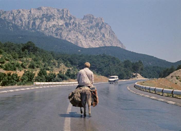 """Filmo """"Kaukazo belaisvė, arba nauji Šuriko nuotykiai"""" (rež. Leonidas Gaidajus, 1967) kadrai"""