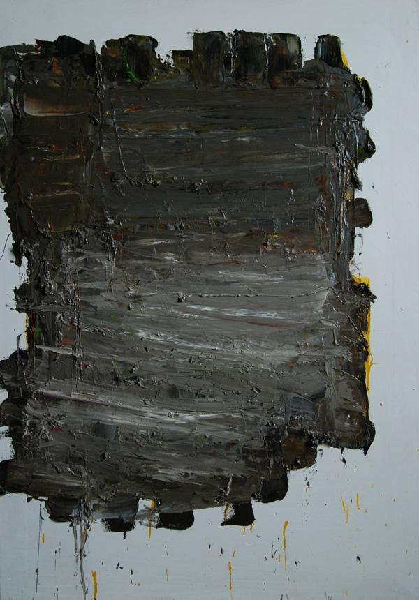 """Algimantas Černiauskas. """"Primityvūs pusryčiai"""". 2013, drobė, aliejus, 100 x 70"""